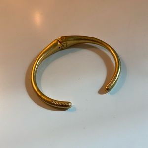 Madewell - Gold and Pave Cuff Bracelet